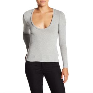 PST by Project Social T Ribbed Scoop Neck Tee